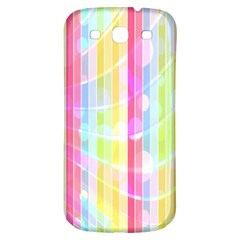Colorful Abstract Stripes Circles And Waves Wallpaper Background Samsung Galaxy S3 S Iii Classic Hardshell Back Case
