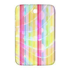 Colorful Abstract Stripes Circles And Waves Wallpaper Background Samsung Galaxy Note 8 0 N5100 Hardshell Case  by Simbadda