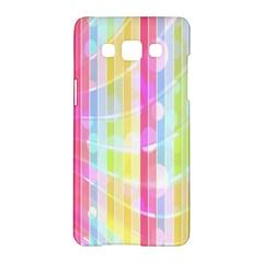 Colorful Abstract Stripes Circles And Waves Wallpaper Background Samsung Galaxy A5 Hardshell Case  by Simbadda