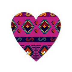 Abstract A Colorful Modern Illustration Heart Magnet by Simbadda