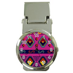 Abstract A Colorful Modern Illustration Money Clip Watches by Simbadda
