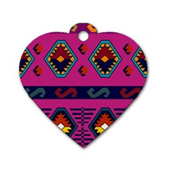 Abstract A Colorful Modern Illustration Dog Tag Heart (two Sides) by Simbadda
