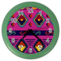 Abstract A Colorful Modern Illustration Color Wall Clocks by Simbadda