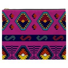 Abstract A Colorful Modern Illustration Cosmetic Bag (xxxl)  by Simbadda