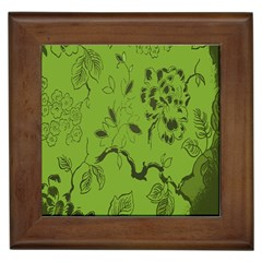 Abstract Green Background Natural Motive Framed Tiles by Simbadda