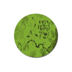 Abstract Green Background Natural Motive Magnet 3  (round)