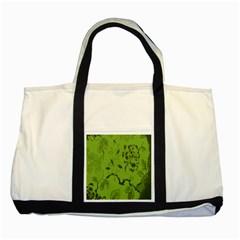 Abstract Green Background Natural Motive Two Tone Tote Bag by Simbadda