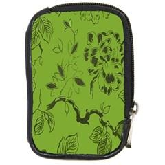 Abstract Green Background Natural Motive Compact Camera Cases by Simbadda