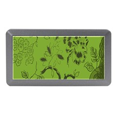 Abstract Green Background Natural Motive Memory Card Reader (mini) by Simbadda