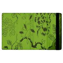 Abstract Green Background Natural Motive Apple Ipad 3/4 Flip Case by Simbadda