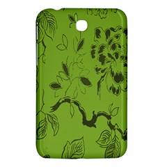 Abstract Green Background Natural Motive Samsung Galaxy Tab 3 (7 ) P3200 Hardshell Case  by Simbadda