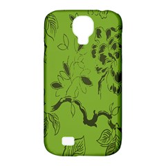 Abstract Green Background Natural Motive Samsung Galaxy S4 Classic Hardshell Case (pc+silicone) by Simbadda