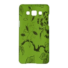 Abstract Green Background Natural Motive Samsung Galaxy A5 Hardshell Case  by Simbadda