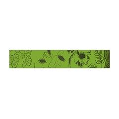 Abstract Green Background Natural Motive Flano Scarf (mini) by Simbadda
