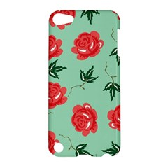 Floral Roses Wallpaper Red Pattern Background Seamless Illustration Apple Ipod Touch 5 Hardshell Case by Simbadda