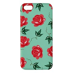 Floral Roses Wallpaper Red Pattern Background Seamless Illustration Iphone 5s/ Se Premium Hardshell Case by Simbadda