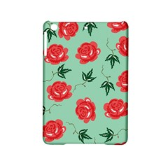 Floral Roses Wallpaper Red Pattern Background Seamless Illustration Ipad Mini 2 Hardshell Cases by Simbadda
