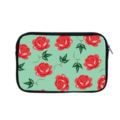 Floral Roses Wallpaper Red Pattern Background Seamless Illustration Apple Macbook Pro 13  Zipper Case by Simbadda
