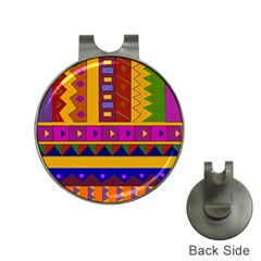 Abstract A Colorful Modern Illustration Hat Clips With Golf Markers by Simbadda