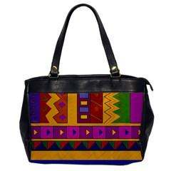 Abstract A Colorful Modern Illustration Office Handbags by Simbadda