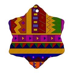 Abstract A Colorful Modern Illustration Ornament (snowflake) by Simbadda