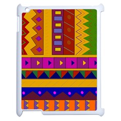 Abstract A Colorful Modern Illustration Apple Ipad 2 Case (white) by Simbadda
