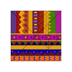Abstract A Colorful Modern Illustration Acrylic Tangram Puzzle (4  X 4 ) by Simbadda