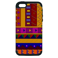 Abstract A Colorful Modern Illustration Apple Iphone 5 Hardshell Case (pc+silicone) by Simbadda