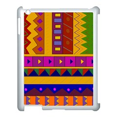 Abstract A Colorful Modern Illustration Apple Ipad 3/4 Case (white) by Simbadda