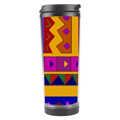 Abstract A Colorful Modern Illustration Travel Tumbler by Simbadda