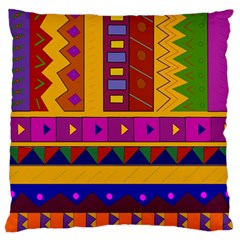 Abstract A Colorful Modern Illustration Large Flano Cushion Case (two Sides) by Simbadda