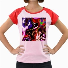 Colourful Abstract Background Design Women s Cap Sleeve T Shirt by Simbadda