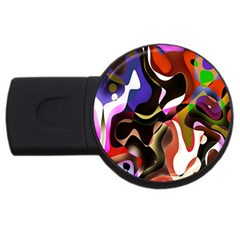 Colourful Abstract Background Design USB Flash Drive Round (1 GB) by Simbadda
