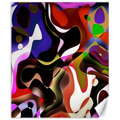 Colourful Abstract Background Design Canvas 8  X 10  by Simbadda