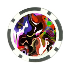 Colourful Abstract Background Design Poker Chip Card Guard by Simbadda