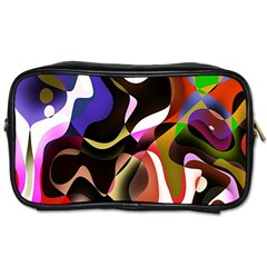 Colourful Abstract Background Design Toiletries Bags 2 Side by Simbadda