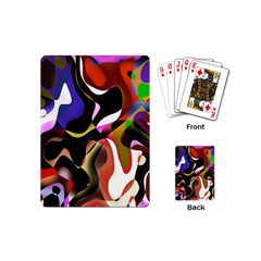Colourful Abstract Background Design Playing Cards (mini)  by Simbadda