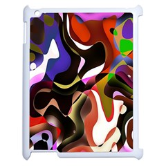 Colourful Abstract Background Design Apple Ipad 2 Case (white) by Simbadda