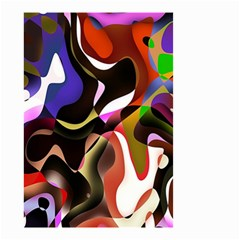 Colourful Abstract Background Design Small Garden Flag (two Sides) by Simbadda