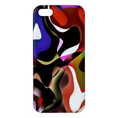 Colourful Abstract Background Design Apple Iphone 5 Premium Hardshell Case by Simbadda
