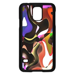 Colourful Abstract Background Design Samsung Galaxy S5 Case (black) by Simbadda