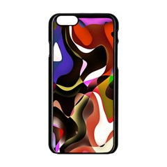 Colourful Abstract Background Design Apple Iphone 6/6s Black Enamel Case by Simbadda