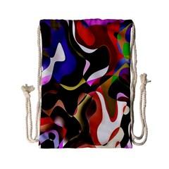 Colourful Abstract Background Design Drawstring Bag (small) by Simbadda