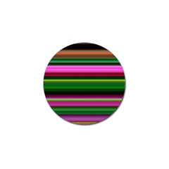 Multi Colored Stripes Background Wallpaper Golf Ball Marker (10 Pack) by Simbadda