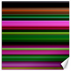 Multi Colored Stripes Background Wallpaper Canvas 16  X 16   by Simbadda