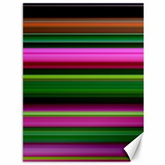 Multi Colored Stripes Background Wallpaper Canvas 36  X 48   by Simbadda