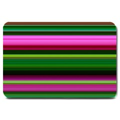 Multi Colored Stripes Background Wallpaper Large Doormat  by Simbadda