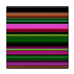 Multi Colored Stripes Background Wallpaper Face Towel by Simbadda