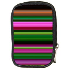 Multi Colored Stripes Background Wallpaper Compact Camera Cases by Simbadda