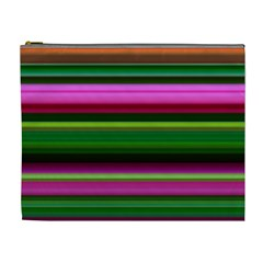 Multi Colored Stripes Background Wallpaper Cosmetic Bag (xl) by Simbadda